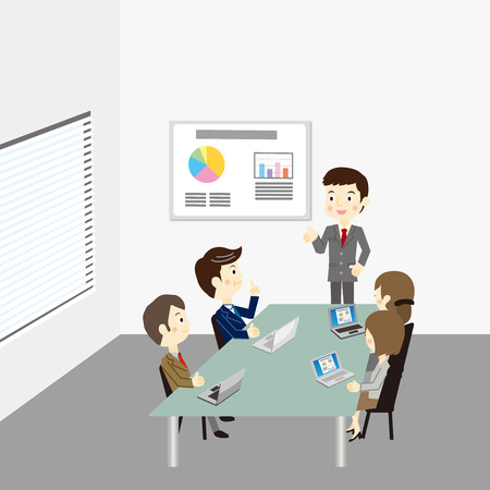 Business team vergadering Stock Illustratie