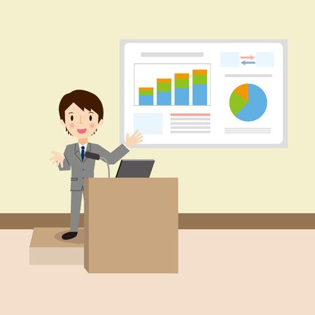spiel: Businessman to the presentation