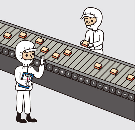 conveyor system: Clean room factory work management check