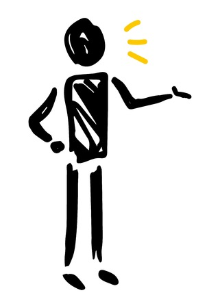 Silhouette illustration of a person will be described