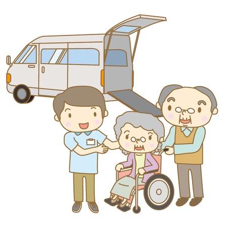 看護介護スタッフをピックアップし、高齢者を転送するには