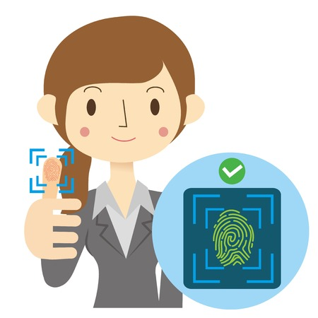 Fingerprint authentication system image