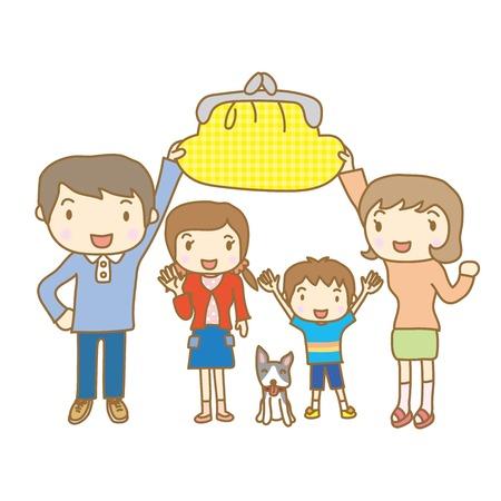 Vector children: hình ảnh tiền gia đình Hình minh hoạ