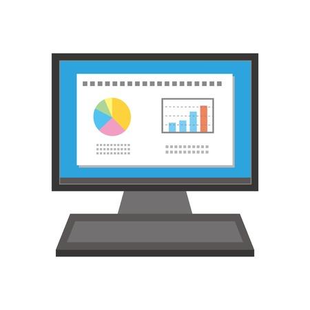 デスクトップ PC  イラスト・ベクター素材