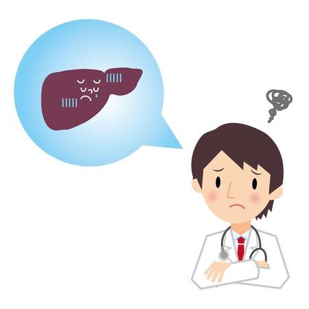 肝の医師の説明
