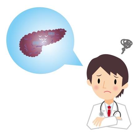 Doctor describing the pancreas