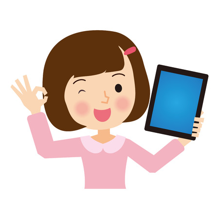 pat: Girl with a Tablet