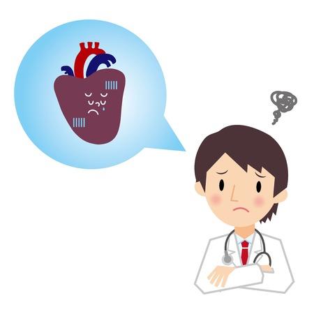 A description of the heart doctor Illustration