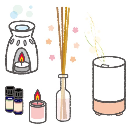 scented candle: Aroma goods Illustration
