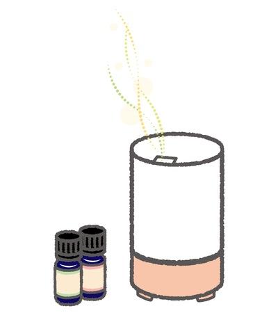 Aroma diffuser and aroma oil Vetores