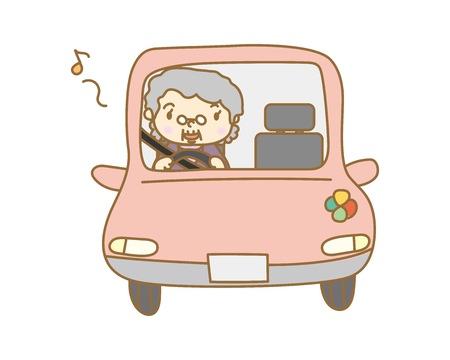 Elderly driver Illustration