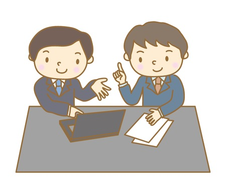 Meeting, business negotiation scenery Illustration