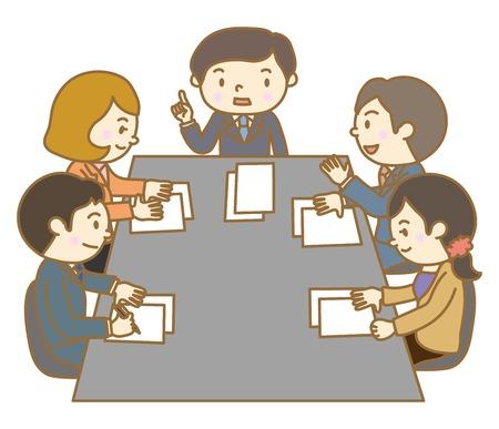 Meeting scenery Illustration