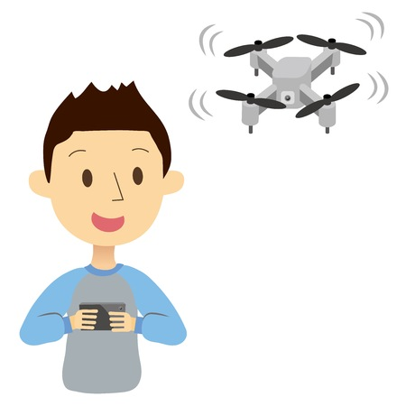 A man operating the drone
