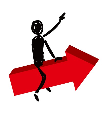 Silhouette illustration of a person