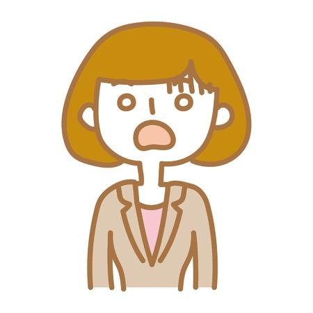 A surprising businesswoman Illustration