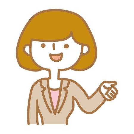 A businesswoman explaining Illustration