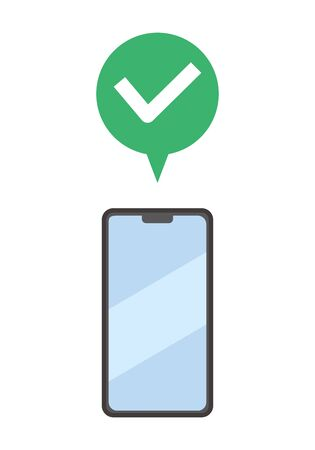 Image of online notification sent to smartphone