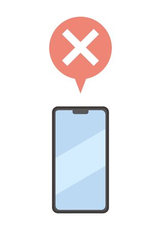 Image of off-line notification sent to smartphone