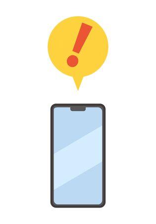 Image of warning notification sent to smartphone 向量圖像