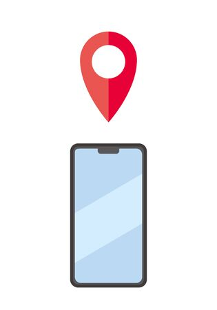 Image of location information notification sent to smartphone