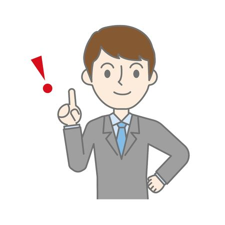 Businessman pointing out important points and explaining