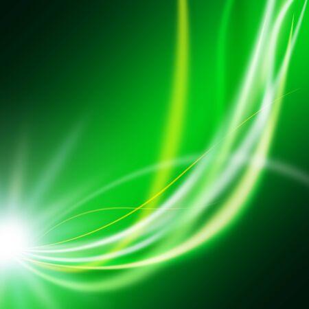 Line image of green fantastic light