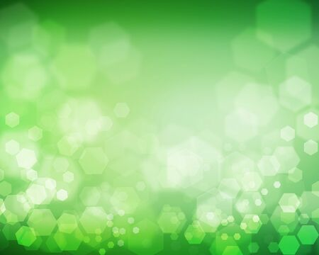Green hexagon background image