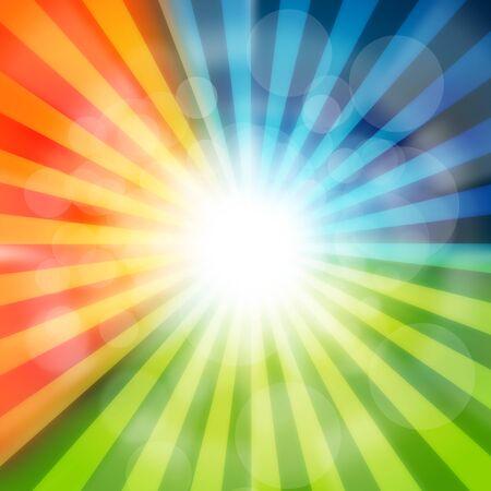Background image of colorful radial 版權商用圖片