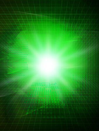Green glowing digital background image 版權商用圖片