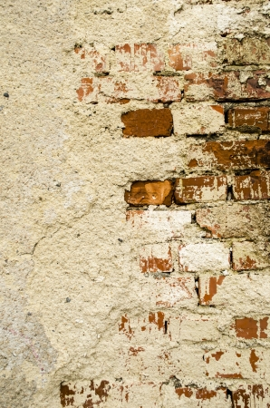 Texture of broken concrete bricks photo