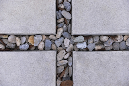 ceremic: The tile and rock Stock Photo