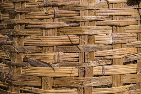 industrail: Wicker cane baskets close up 1