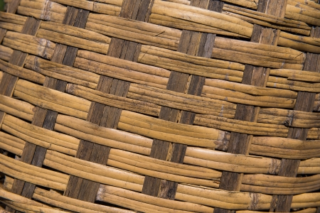 industrail: Wicker cane baskets close up 2