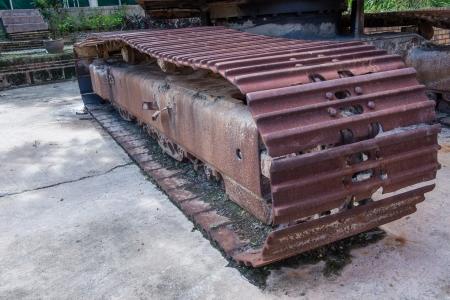 A wheel of excavator loader machine photo