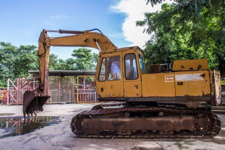 excavator loader machine photo