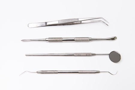 Dental tools in dental clinic