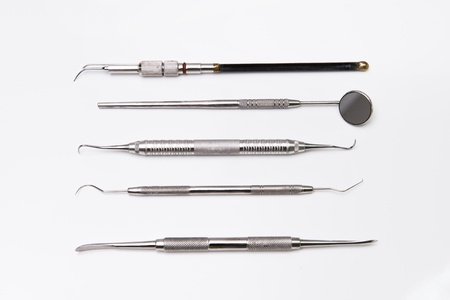 Dental tools in dental clinic photo