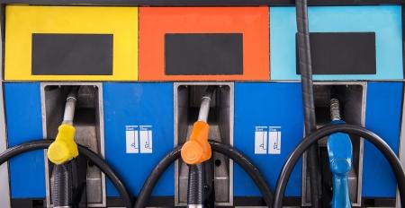 petrol pump: Petrol pump filling Stock Photo