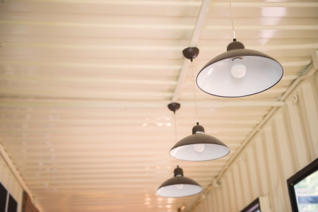 Arrangement of hanging lighting Zdjęcie Seryjne
