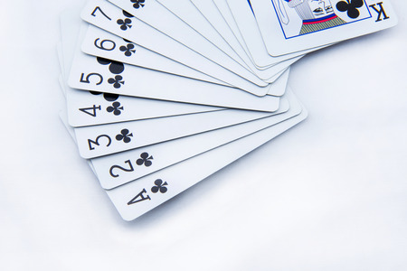 poker cards on white background photo