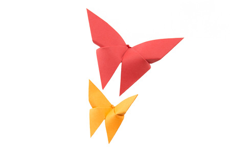 butterfly Origami Stock Photo