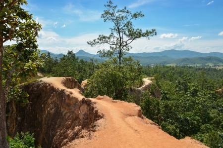 grand hard: Pai Canyon in North of Thailand