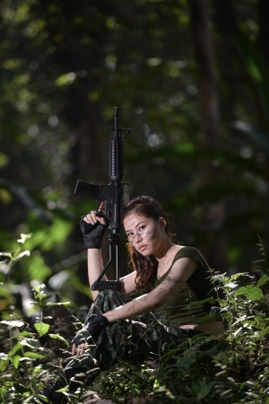 special service agent: Special force with the gun in the jungle