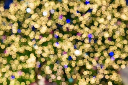 Abstract circular bokeh background of Christmas light photo