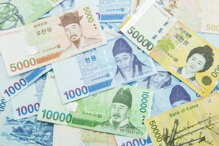 Monnaie Won sud-coréen Banque d'images - 25755363