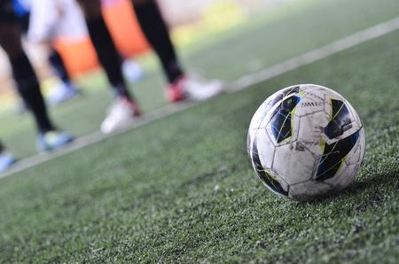 futsal: Image of free kick and greengrass
