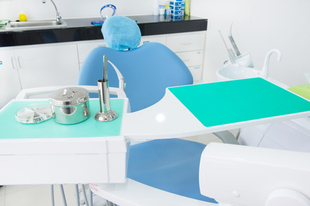 Close-up of dental tool equipment in dental clinic Stock Photo