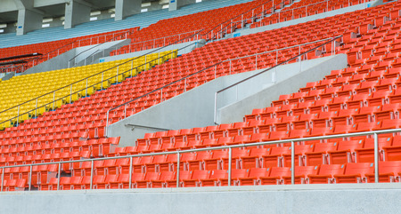 Empty Chair at Grandstand Stock Photo - 28326648