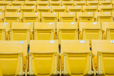 grandstand: Empty Chair at Grandstand Editorial